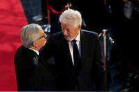 Bill Clinton, Jean-Claude Juncker<br /> <br /> STRASBOURG, FRANCE - JULY 01: The coffin holding the remains of former German Chancellor Helmut Kohl draped by the European flag is carried to the memorial ceremony at the European Parliament on July 1, 2017 in Strasbourg, France. Kohl was chancellor of Germany for 16 years and led the country from the Cold War through to reunification. He died on June 16 at the age of 87<br /> Foto Elyxandro Cegarra / Panoramic / Insidefoto <br /> ITALY ONLY