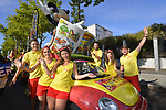 Publicity caravan Mickey Mouse Journal before Stage 14 of the 104th edition of the Tour de France 2017, running 181.5km from Blagnac to Rodez, France. 15th July 2017.<br /> Picture: ASO/Bruno Bade | Cyclefile<br /> <br /> <br /> All photos usage must carry mandatory copyright credit (&copy; Cyclefile | ASO/Bruno Bade)