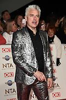 John Barrowman<br /> arriving for the National TV Awards 2020 at the O2 Arena, London.<br /> <br /> ©Ash Knotek  D3550 28/01/2020