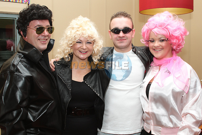 Patricia Conaghy with her family, Alex, Kevin and Tara at her 50th in Harry's...Picture Jenny Matthews/Newsfile.ie