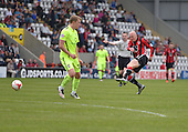 07/05/2016 Sky Bet League Two Morecambe v York City<br /> Kevin Ellison fires in a shot