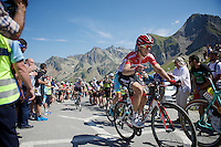 Tony Gallopin (FRA/Lotto-Soudal) reaching out for a bottle on top of the Col du Tourmalet (HC/2115m/17km/7.3%)<br /> <br /> st11: Pau - Cauterets (188km)<br /> 2015 Tour de France