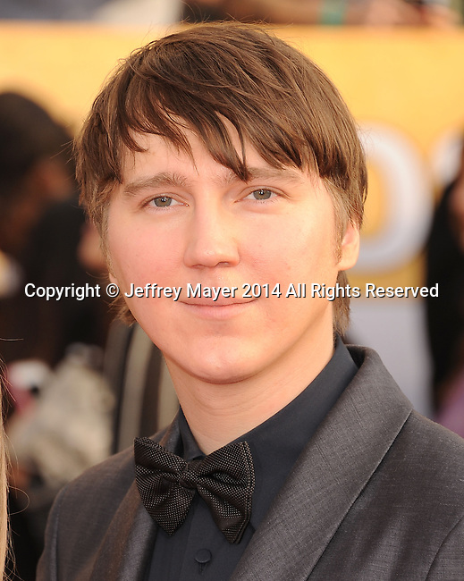 LOS ANGELES, CA- JANUARY 18: Actor Paul Dano arrives at the 20th Annual Screen Actors Guild Awards at The Shrine Auditorium on January 18, 2014 in Los Angeles, California.