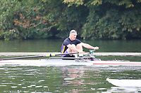 Race: 12  MasD.1x  Quarter-Final<br /> 50  Bradford Amateur Rowing Club (Davis)<br /> 55  York City Rowing Club (Woodford)<br /> <br /> Henley Masters Regatta 2018 - Friday<br /> <br /> To purchase this photo, or to see pricing information for Prints and Downloads, click the blue 'Add to Cart' button at the top-right of the page.