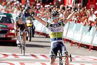 Simon Clarke win the stage of La Vuelta 2012 between Barakaldo and Valdezcaray in presence of Tony Martin (l) second calsified.August 21,2012. (ALTERPHOTOS/Acero) /NortePhoto.com