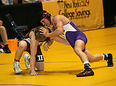 Austin Meys and John Velieri wrestle at the 171 weight class during the NY State Wrestling Championships at Blue Cross Arena on March 8, 2008 in Rochester, New York.  (Copyright Mike Janes Photography)