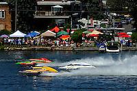 "Eric Langevin, GP-12, Tom Pakradooni, GP-88, ""Rolling Thunder"" and Patrick Haworth, GP-57 ""H2Racing""  (Grand Prix Hydroplane(s)"