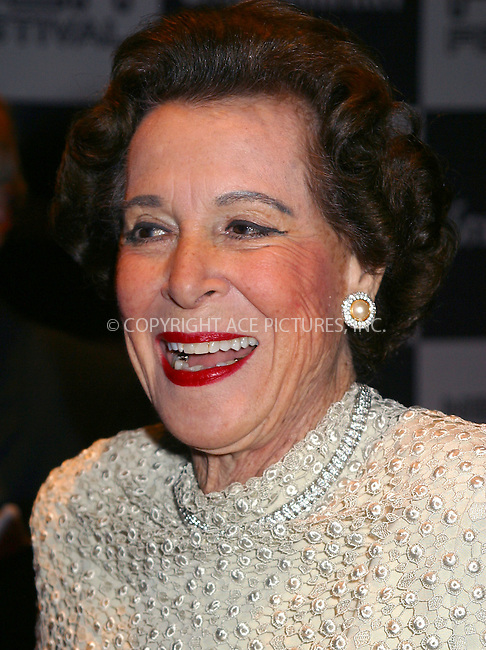 "Kitty Carlise Hart arriving at the premiere of ""About Schmidt"" during the 40th New York Film Festival at Lincoln Center, New York, September 27, 2002. Please byline: Alecsey Boldeskul/NY Photo Press.   ..*PAY-PER-USE*      ....NY Photo Press:  ..phone (646) 267-6913;   ..e-mail: info@nyphotopress.com"