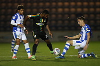 Luke Prosser of Colchester United and Yoann Arquin of Yeovil Town during Colchester United vs Yeovil Town, Sky Bet EFL League 2 Football at the JobServe Community Stadium on 2nd October 2018