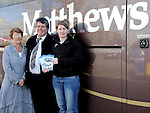 Paddy and Mary Matthews and karen McDermott pictured at the Matthews Coaches open day at the M1 retail park. Photo: Colin Bell/pressphotos.ie