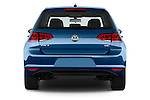 Straight rear view of a 2014 Volkswagen Golf SEL 5 Door Hatchback stock images