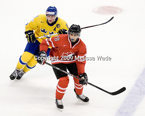 Joakim Andersson (Sweden - 18), Patrice Cormier (Canada - 28) - Canada defeated Sweden 5-1 (2 en) in the 2009 World Junior Championship gold medal game on Monday, January 5, 2009, at Scotiabank Place in Kanata (Ottawa), Ontario.  This was the second consecutive year that Canada won gold and Sweden won silver after Canada defeated Sweden in overtime in 2008 and was Canada's fifth consecutive gold.