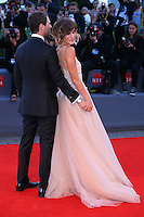 Richard Flood and Gabriella Pession attend the red carpet for the Kineo Award, during the 72nd Venice Film Festival at the Palazzo Del Cinema in Venice, Italy, September 6, 2015.<br /> UPDATE IMAGES PRESS/Stephen Richie