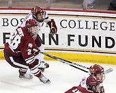 Darren Rowe (UMass - 28), Chris Kreider (BC - 19) - The Boston College Eagles defeated the University of Massachusetts-Amherst Minutemen 6-5 on Friday, March 12, 2010, in the opening game of their Hockey East Quarterfinal matchup at Conte Forum in Chestnut Hill, Massachusetts.