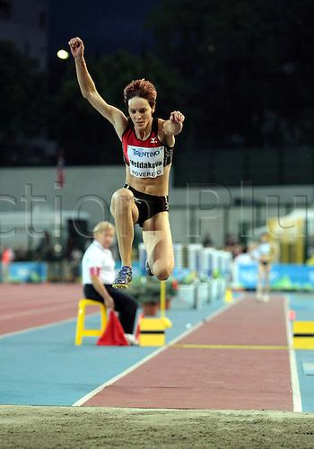 04.09.2012.  Rovereto, Italy.  Dana VELDAKOVA (SVK) in action during the European Meeting Athletics 2012 IAAF Palio della Quercia Meeting