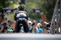 Adam Yates (GBR/Mitchelton-Scott) at the race start in front of the Arena in Nîmes<br /> <br /> Stage 16: Nîmes to Nîmes(177km)<br /> 106th Tour de France 2019 (2.UWT)<br /> <br /> ©kramon