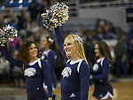 Nevada cheerleaders before an NCAA college basketball game against Utah State in Reno, Nev., Wednesday, Jan. 2, 2019. (AP Photo/Tom R. Smedes)