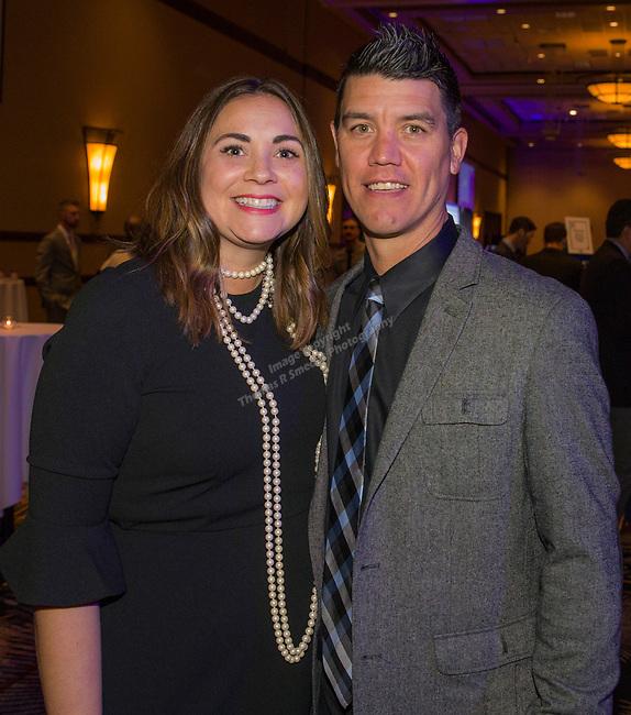Nevada head baseball coach T.J. Bruce with wife Heather during the 35th Annual Bobby Dolan Baseball Dinner in the Reno Ballroom on Thursday, January 17, 2019.