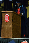 Graduate Jeremy Scruggs speaks at the Celebration of Achievement 2017 ceremony. Photo by Marlee Crawford/Ole Miss Communications