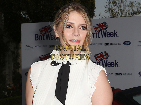 """Mischa Barton.7th Annual BritWeek Festival """"A Salute To Old Hollywood"""" Launch Party held at the British Consul General's Residence, Los Angeles, California, USA..April 23rd, 2013.headshot portrait black bow sleeveless pussybow .CAP/ADM/KB.©Kevan Brooks/AdMedia/Capital Pictures"""