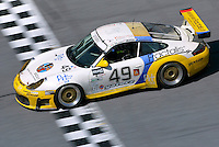The 349 Porsche of Michele Merendino, Bepo Orlandi, Derek Clark, and Ron Atapattu races to a seventeenth place finish in  the Rolex 24 at Daytona, Daytona INternational Speedway, Daytona Beach, FL, February 2, 2003.  (Photo by Brian Cleary/www.bcpix.com)