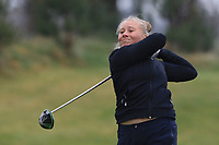 Celine Brovold Sanne (NOR) on the 1st tee during Round 1 of the Irish Girls U18 Open Stroke Play Championship at Roganstown Golf &amp; Country Club, Dublin, Ireland. 05/04/19 <br /> Picture:  Thos Caffrey / www.golffile.ie