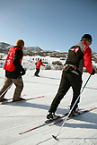 USA, Utah, Midway, Soldier Hollow, learning how to biathlon, getting a feel for the skiis