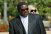 9 August 2007: Former Stanford football head coach Dennis Green arrives at the Bill Walsh memorial at Memorial Church on the campus of Stanford University in Stanford, CA.