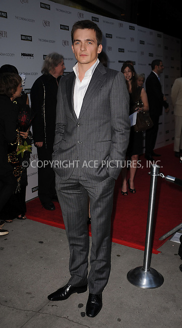 WWW.ACEPIXS.COM . . . . . ....June 16 2009, New York City....Actor Rupert Friend at a screening of 'Cheri' at the Directors Guild of America Theater on June 16, 2009 in New York City.....Please byline: KRISTIN CALLAHAN - ACEPIXS.COM.. . . . . . ..Ace Pictures, Inc:  ..tel: (212) 243 8787 or (646) 769 0430..e-mail: info@acepixs.com..web: http://www.acepixs.com