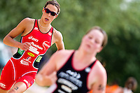 13 JUN 2010 - BEAUVAIS, FRA - Charlotte Morel - French Grand Prix triathlon series (PHOTO (C) NIGEL FARROW)