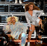 INDIO, CA - APRIL 21: Solange Knowles performs with Beyonce at the 2018 Coachella Valley Music And Arts Festival at Indio Polo Grounds on April 21, 2018 in Indio, California. (Photo by Frank Micelotta/PictureGroup)