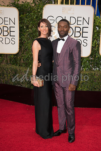 Jessica Oyelowo and David Oyelowo attend the 73rd Annual Golden Globes Awards at the Beverly Hilton in Beverly Hills, CA on Sunday, January 10, 2016. Photo Credit: HFPA/AdMedia