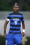 20 September 2013: Duke's Sebastien Ibeagha. The Duke University Blue Devils hosted the Syracuse University Orangemen at Koskinen Stadium in Durham, NC in a 2013 NCAA Division I Men's Soccer match. Syracuse won the game 2-1.
