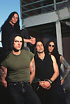 Various portrait sessions of the rock band, Type O Negative