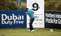 27 May 2015; Paul McGinley tees off at the 9th<br /> <br /> Dubai Duty Free Irish Open Golf Championship 2015, Pro-Am. Royal County Down Golf Club, Co. Down. Picture credit: John Dickson / DICKSONDIGITAL