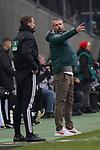 01.12.2019, Borussia Park , Moenchengladbach, GER, 1. FBL,  Borussia Moenchengladbach vs. SC Freiburg,<br />  <br /> DFL regulations prohibit any use of photographs as image sequences and/or quasi-video<br /> <br /> im Bild / picture shows: <br /> Marco Rose Chefrainer/Headcoach (Gladbach), regt sich heftig auf, Gestik, Mimik,   <br /> <br /> Foto © nordphoto / Meuter