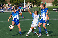Allston, MA - Saturday August 19, 2017: Angela Salem, Marta Vieira Da Silva, Julie King during a regular season National Women's Soccer League (NWSL) match between the Boston Breakers and the Orlando Pride at Jordan Field.