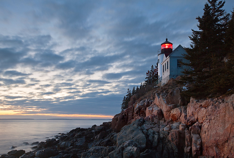 Bass Harbor Head Lighthouse at Acadia National Park, Maine, USA
