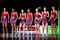 Picture by Alex Whitehead/SWpix.com - 15/04/2018 - Commonwealth Games - Netball - Coomera Indoor Sports Centre, Gold Coast, Australia - England players before the Gold medal final against Australia.
