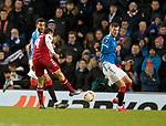 20.02.2020 Rangers v SC Braga: Abel Ruiz scores goal no 2 for Braga