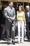 25.05.2012. Prince Felipe of Spain and Princess Letizia attend the inauguration of the Book Fair 2012 at the Retiro in Madrid. In the image Felipe de Borbon and Letizia Ortiz (Alterphotos/Marta Gonzalez)