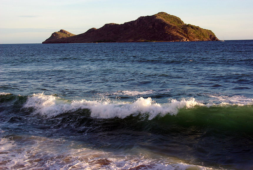 View from beach, Mazatlan, Mexico