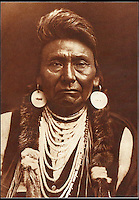 BNPS.co.uk (01202 558833)<br /> Pic: Bloomsbury/BNPS<br /> <br /> Chief Joseph of the Nez Perce tribe in 1903.<br /> <br /> Lost souls - Poignant archive reveals the lost tribes of North America in beautiful photographs from just over a century ago.<br /> <br /> A remarkable collection of photographs which give an unprecedented insight into the lives of Native Americans at a time when their land was being taken from them have emerged at auction.<br /> <br /> Between 1907 and 1930, US photographer Edward Curtis spent time with more than 80 native tribes across Native America, taking thousands of photographs as part of his groundbreaking The North American Indian project.<br /> <br /> A collection of more than 500 rare Curtis photographs are being auctioned off later this month and are expected to fetch over &pound;300,000.