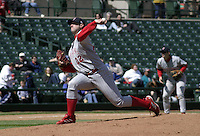 April 24, 2004:  /sp/ Ed Yarnell (22) of the Scranton-Wilkes Barre Red Barons, Class-AAA International League affiliate of the Philadelphia Phillies, during a game at Frontier Field in Rochester, NY.  Photo by:  Mike Janes/Four Seam Images