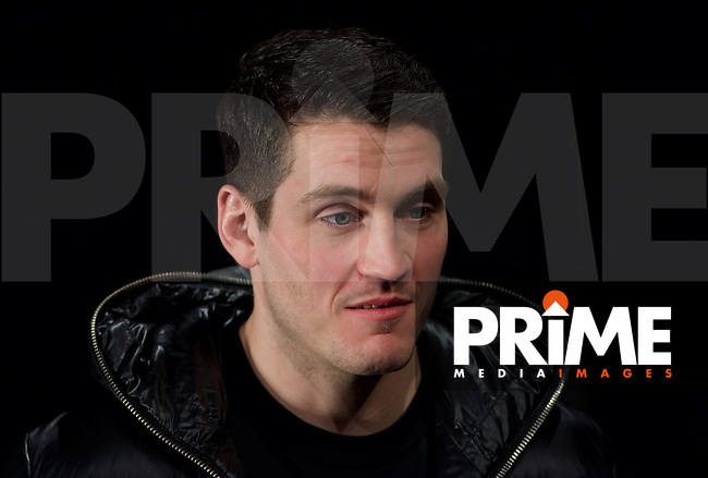 Trainer Shane McGuigan during the final press conference ahead of the George Groves v Andrea Di Luisa fight set for Saturday 30th January 2016 at the Copper Box, at Stratford Circus, Theatre Square, England on 28 January 2016. Photo by Alan  Stanford/PRiME Media Images.