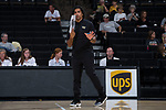 Wake Forest Demon Deacons assistant coach Arturo Rivera during the match against the USC Upstate Spartans in the LJVM Coliseum on September 9, 2017 in Winston-Salem, North Carolina.  The Demon Deacons defeated the Spartans 3-2.   (Brian Westerholt/Sports On Film)