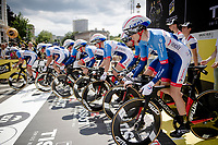 Team Total-Direct Energie off the start ramp<br /> <br /> Stage 2 (TTT): Brussels to Brussels(BEL/28km) <br /> 106th Tour de France 2019 (2.UWT)<br /> <br /> ©kramon