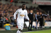 Pictured: Modou Barrow of Swansea (R) Saturday 10 January 2015<br />