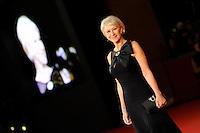 Roma, 18 Ottobre, 2009. L'attrice Helen Mirren durante il red carper per il suo ultimo film &quot;The last station&quot;.<br /> Helen Mirren at the red carpet at the Rome's film festival