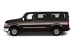 Car driver side profile view of a 2019 Nissan NV Passenger SL 4 Door Passenger Van